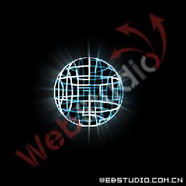 "ps照片基础-PS 3D荧光球  8、对复制的图层应用""模糊""滤镜中的"""
